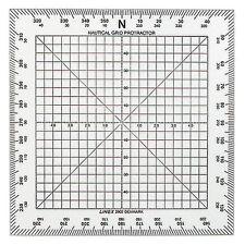 Linex 2802 - Kursviereck 13 x 13 cm / Kursplotter, Plotter, course plotter, Boot