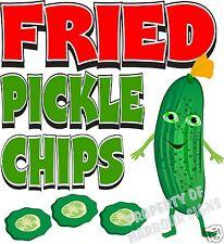 Fried Pickle Chips Decal 14 Concession Food Truck Van Cart Vinyl Menu Sticker
