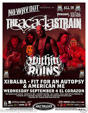 THE ACACIA STRAIN / WITHIN THE RUINS / XIBALBA /2013 SEATTLE CONCERT TOUR POSTER