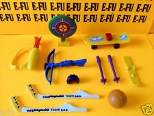 Playmobil Sport Lot! Hockey Sticks Crossbow Skateboard Basketball Quiver Arrows