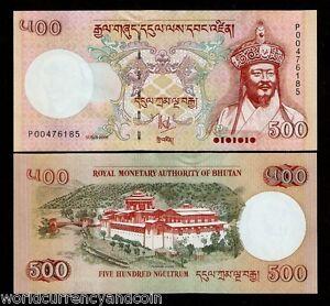 BHUTAN 500 NGULTRUM P-33 2006 KING PALACE UNC SAARC BILL MONEY BANK NOTE