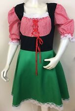 Sexy German Beer Girl Bavarian Wench Oktoberfest Green Dress Costume   G3
