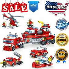 348 PCs 4 In 1 Truck Car Helicopter Boat Building Blocks Kids Toys Birthday Gift