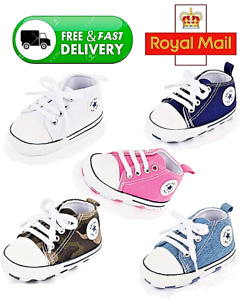 Newborn Baby Boy Girl Pram Shoes Infant Sneakers Toddler PreWalker Trainers 0-18
