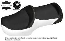 WHITE & BLACK LEATHER CUSTOM FITS HONDA GOLDWING GL 1200 DUAL SEAT COVER