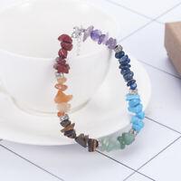 7 Chakra Healing Balance Beaded Lava Bracelet Natural Stone Yoga Reiki Fashion
