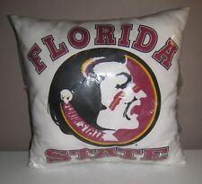 FLORIDA STATE SEMINOLES THROW PILLOW New White w/ Logo NCAA College 1993 NOS
