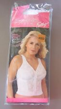 EXQUISITE FORM~40DD~5107565~White Lace Posture Front Close Longline Bra