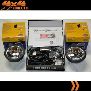 HELLA RALLYE FF4000 COMPACT BLACK DRIVING SPOT LIGHTS W/ 100W HID CONVERSION KIT