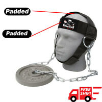 Head Harness Neck Exercise Gym Training Adjustable Weight Lifting Chain Strap