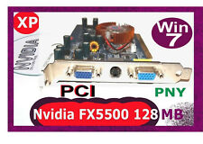 PNY GeForce FX-5500 PCI 128MB Video Card. +Driver CD.  Standard PCI not PCI-E