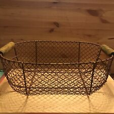 Farmhouse Chic Chicken Wire Egg Kitchen Basket Shabby Rustic Primitive Country