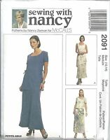 McCalls Sewing Pattern # 2091 Misses Tops and Pull-On Bias Skirt Size 12-14