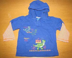 Disney Toy Story Hooded Sweatshirt Boys Sz 3T Rex Dinosaur Hoodie with Pockets