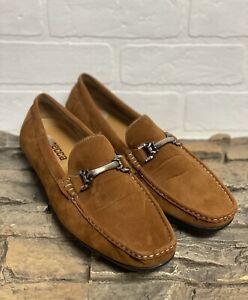 Mecca Men's Slip On Loafer Driver Shoes Sz 10.5 Camel Suede