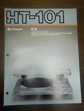 Hitachi Brochure~HT-101 Turntable~Catalog Insert~Specifications