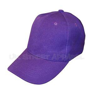 Purple Adjustable Baseball Cap