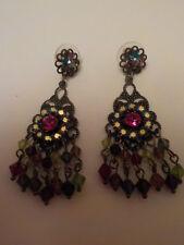 Kirks Folly coloured crystal hanging earings
