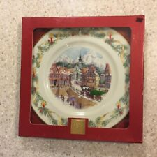 """Lenox 2002 Annual Limited Holiday Collector Christmas Plate """"A German Village"""""""