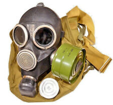 Vintage Soviet Russian Gas Mask GP-7 Size 3 - Large. FULL SET! RARE SIZE! BLACK