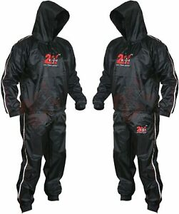 Sauna Sweat Suit Weight Loss Exercise Workout Calories Burner Track Suit Hooded