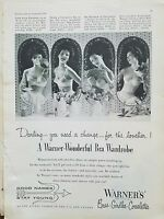 1953 WARNERS women's wonderful bra wardrobe darling you need a change fashion ad
