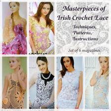 Crochet pattern magazine tutorial Duplet Irish Lace set of 6 Lot free shipping