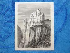 Gravure Année 1863 - Chateau de Regenstein (Allemagne) - Castello (Germania)