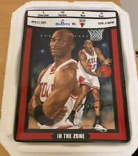 "1997 Michael Jordan ""IN THE ZONE"" Collector Plate Bradford EX/Upper Deck"
