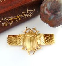 BRASS Scarab With Wings Beetle Stamping ~ Jewelry Beetle Finding (C-403)