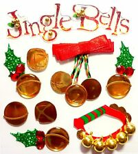Jingle Bells Christmas Decorations Holly Berries  Jolee's 3D Stickers