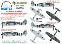 Montex 1/32 Masks, markings & barrels for Hasegawa Fw 190A-8 - KAM32007