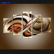 FRAMED Modern Abstract Brown Lines Wall Art Painting Print On Canvas Home Decor