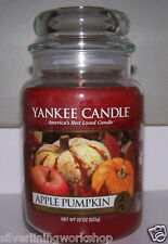 Yankee Candle Apple Pumpkin 22 oz Jar! Fresh Yummy Scent! Great Gift Idea! B4+16