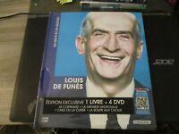 """COFFRET LIVRE + 4 DVD NEUF """"LOUIS DE FUNES : LE CORNIAUD / LA SOUPE AUX CHOUX /"""