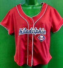 J877/240 MLB Philadelphia Phillies Red Baseball Jersey Women's Large