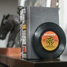 Vintage Bookends Recycled 45 Rpm Vinyl Records