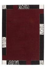 Tapis modernes rouge à motif Bordé pour la maison
