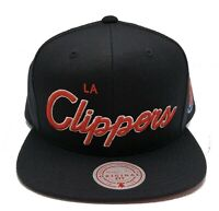 Mitchell & Ness Los Angeles Clippers Foundation Script Adjustable Snapback Cap