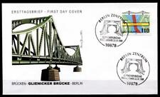 Brücken. Glienicker Brücke, Berlin. FDC. Berlin. BRD 1998