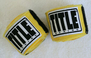 Title Boxing Hand Wraps - Yellow - Boxing, Sparring, MMA, Training
