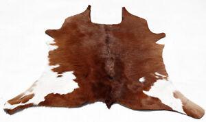"Rare Cowhide Rugs Calf Hide Cow Skin Rug (25''x30"") Brown and White CH8467"