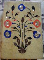 Fleurs Boîte marbre Pietra Dura Pierres semi précieuses Bijoux Fait main Inde A