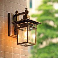 Outdoor Wall Light Porch Brown Wall Sconce Garden Wall Lamp Glass Wall Lighting