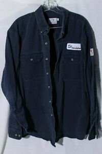 Tyndale Dominion Men's Blue 8 CAL / CAT 2 / NFPA 2112 Arc Flame Resist Shirt XL
