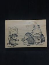 Stampa Rosa House Mouse 12 Chewable Aspirin, Mounted Wood Stamp, NEW