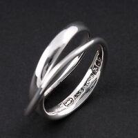 Vivianna Torun Georg Jensen Sterling Ring # 204A Silver // Yellow Gold New!