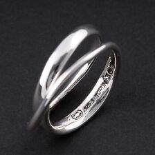 Modern Georg Jensen Sterling Silver Möbius Ring # 369. Vivianna Torun. New!