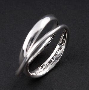 Georg Jensen Sterling Ring # 369. Modern. Silver. Möbius. Vivianna Torun. New!