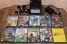 Nintendo GameCube Black Console w/10 Games, Controller, Memory Card Bundle